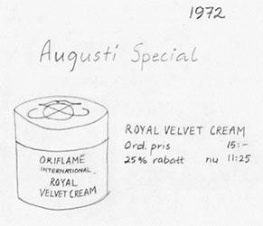 Promoção Royal Velvet em 1972
