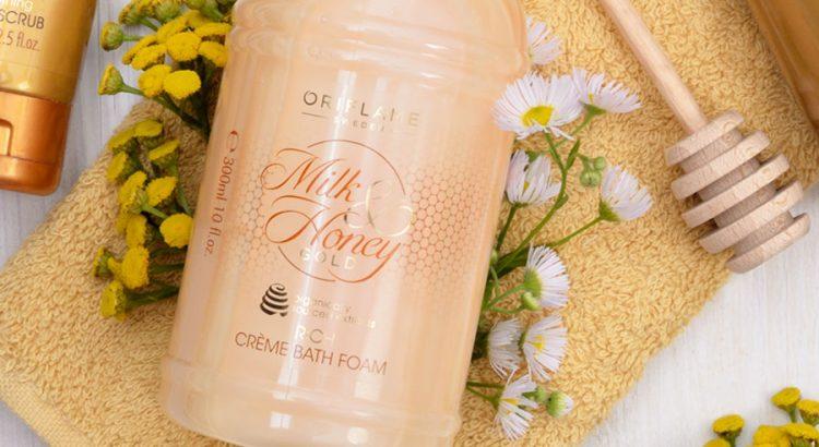Espuma de Banho Cremosa Milk & Honey Gold da Oriflame