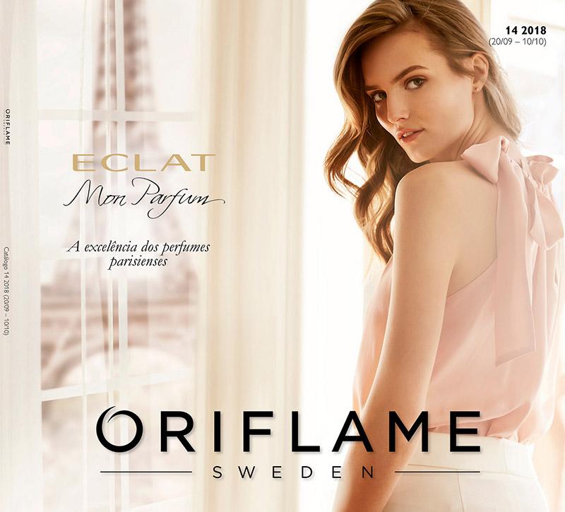 Capa do Catálogo 14 de 2018 da Oriflame