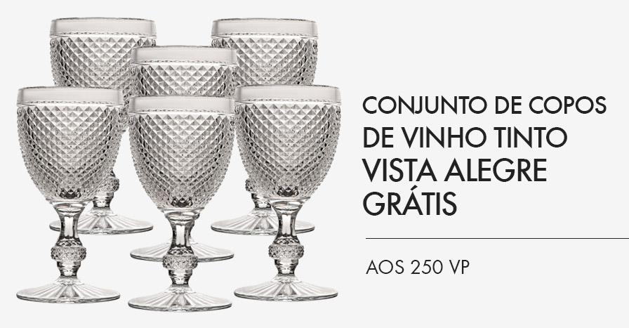 Conjunto de Copos de Vinho Tinto Vista Alegre