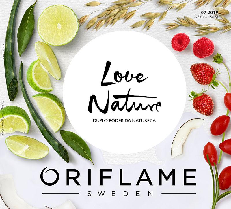 Capa do Catálogo 07 de 2019 da Oriflame
