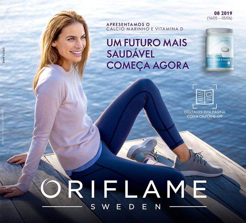 Capa do catálogo 08 de 2019 Oriflame
