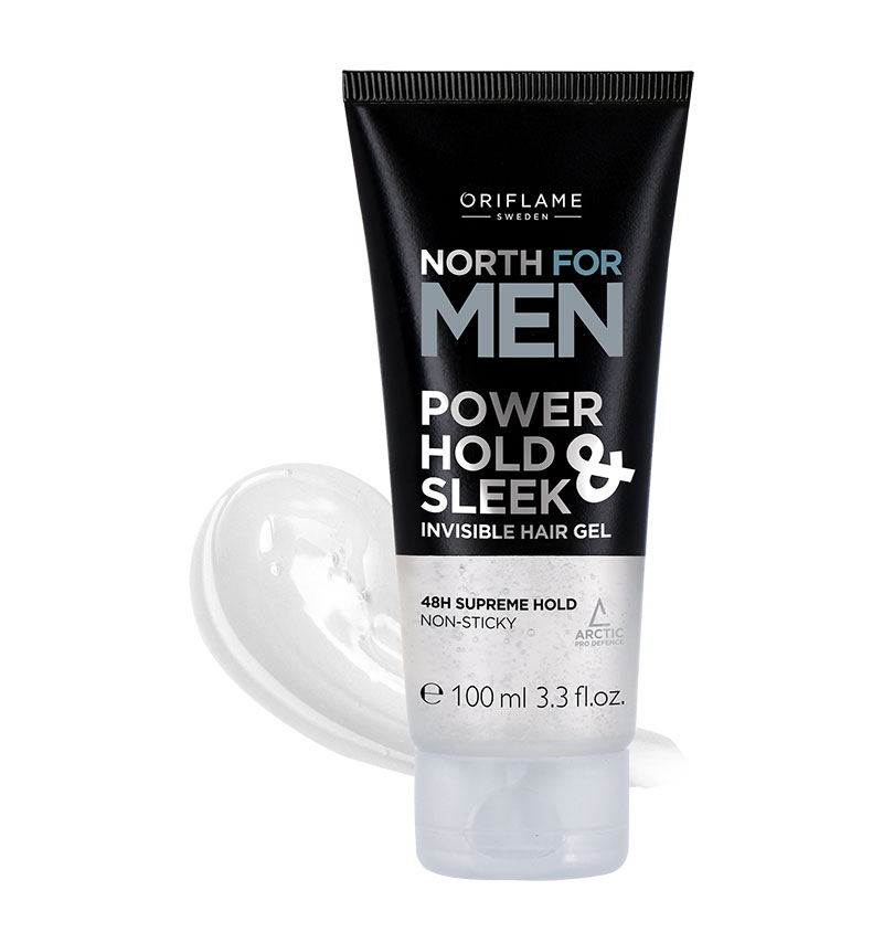 Gel para Cabelo Power Hold & Sleek Invisible North For Men