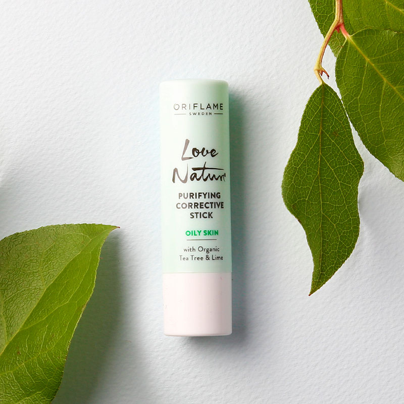 Stick Corretor Purificante com Tea Tree e Lima Orgânicos Love Nature