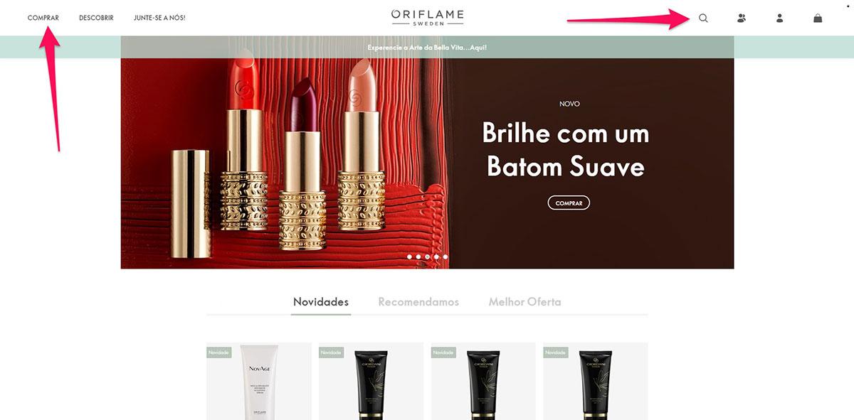 Pesquisar produtos na loja online