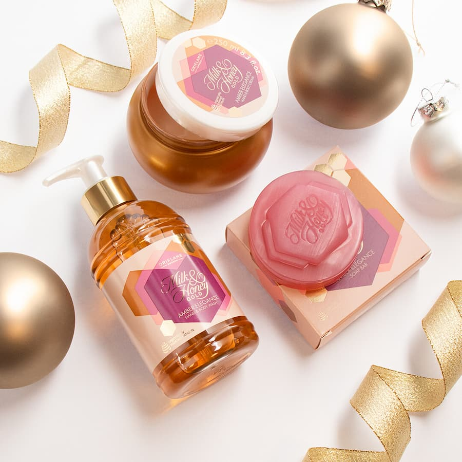 Coleção Ambar Elegance Milk&Honey Gold